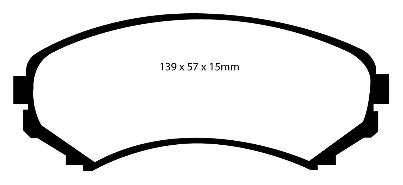 EBC Brakes UD550 Ultimax OEM Replacement Brake pad