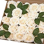 Jing-Rise-Wedding-Bouquets-Rose-50PCS-Artificial-Flowers-Foam-Roses-With-Stem-for-DIY-Bridal-Bridesmaids-Bouquets-Wedding-Baby-Shower-Home-Hotel-Birthday-Party-Anniversary-Floral-Decoration-Cream