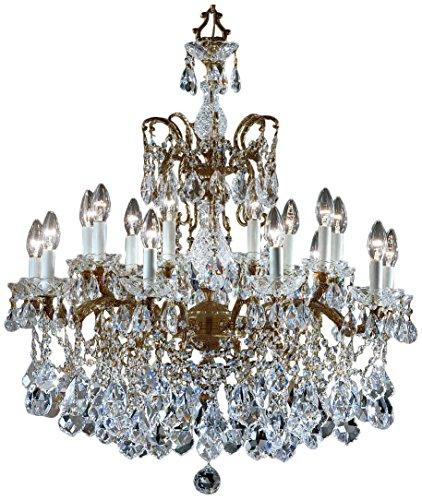 Classic Lighting 5548 RB C Madrid Imperial, Crystal Cast Brass, Chandelier, Roman Bronze