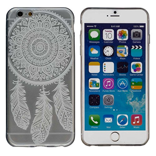 Yayago Coque de protection ultra-fine (0,8mm) pour Apple iPhone 6 / 6S, transparent avec motif Spring
