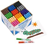 Crayola Washable Thick Felt Tip Colouring Pens Classpack of 144 - Multicolour