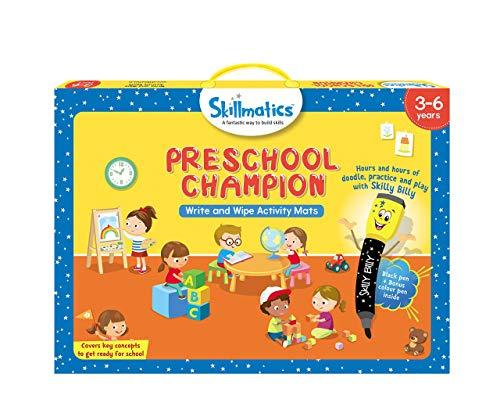 Skillmatics Educational Game: Preschool Champion (3-6 Years) | Creative Fun Activities for Kids