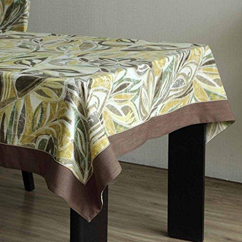 jaune-vert 140cm200cm FOOHAO Table Tissu Tissu Coton Frais Nappe Américaine TV Cabinet Table Basse Tissu Pastorale Rétro (Couleur   jaune-vert, taille   140cm200cm)
