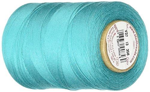 YLI Star Thread V37-356 3-Ply 30wt T-35 Cotton Quilting & Craft Thread, 1200 yd, Blue Turquoise ()