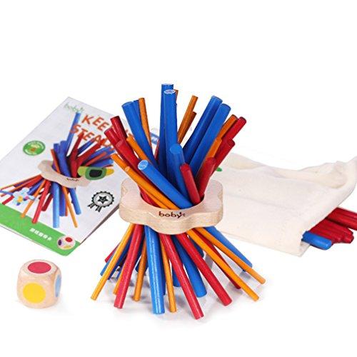 子供木製カラフルスティックバランスおもちゃKeep It Steady for Kids Play Tableスキルゲーム教育玩具ギフト