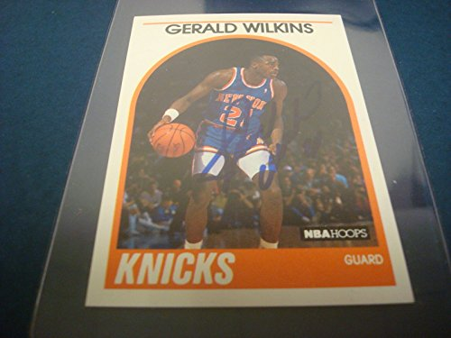 1989 NBA HOOPS #63 GERALD WILKINS KNICKS Chattanooga SIGNED AUTHENTIC AUTOGRAPH