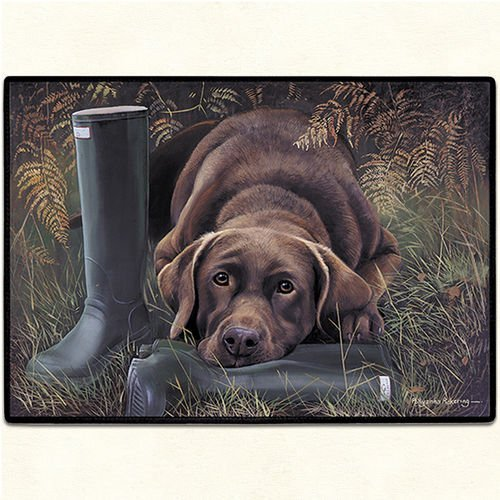Elbow Chocolate Lab Fiddlers - Fiddler's Elbow FED20 Chocolate Lab Doormat