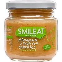 Smileat - Tarritos Ecológicos de Manzana, Pera y Cereales, Ingredientes Naturales, Para Bebés a partir de los 4 Meses…