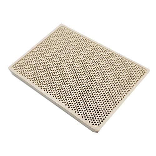- Meter Star Cordierite Ceramic Burner High Temperature Plate Gas Grill Spare Parts Stove heater Comb 132x92x14mm