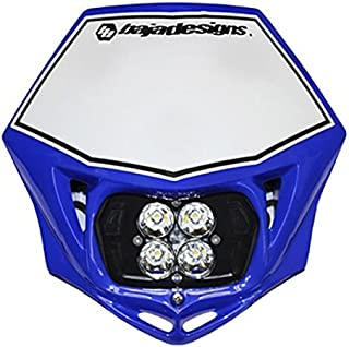 product image for Baja Designs Squadron Sport Motorcycle LED Race Headlight Blue Shell