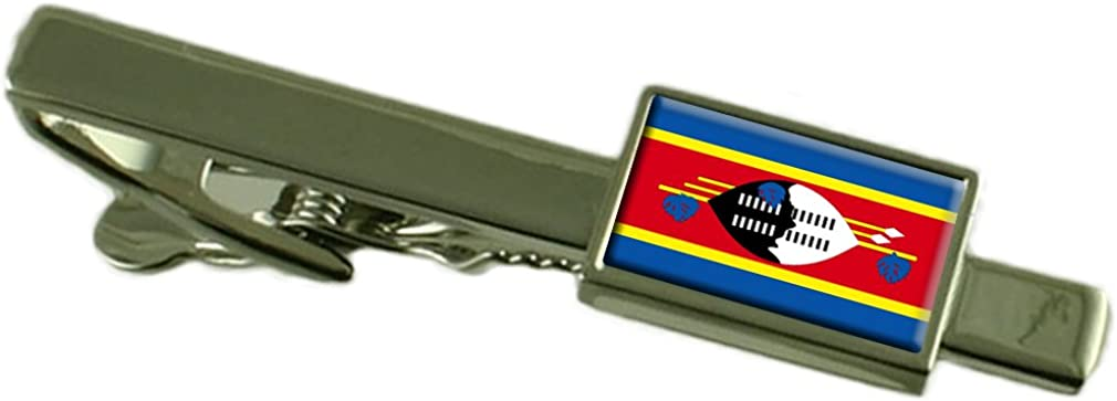 Swaziland Flag Tie Clip Bar 55mm Select Gifts pouch