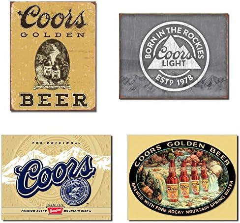 set Of 2 Coors Beer Vintage Wrist Bands
