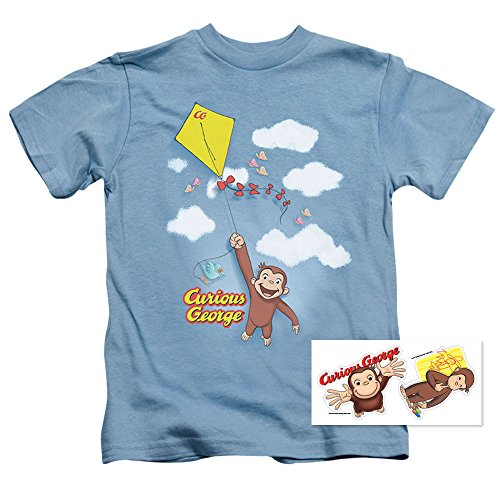 Curious George Kite Flying Youth T Shirt & Exclusive Stickers (4)