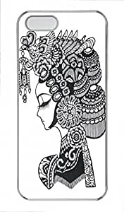 Chinese Papercuts PC Transparent For Iphone 6 Phone Case Cover - Beautiful headdress