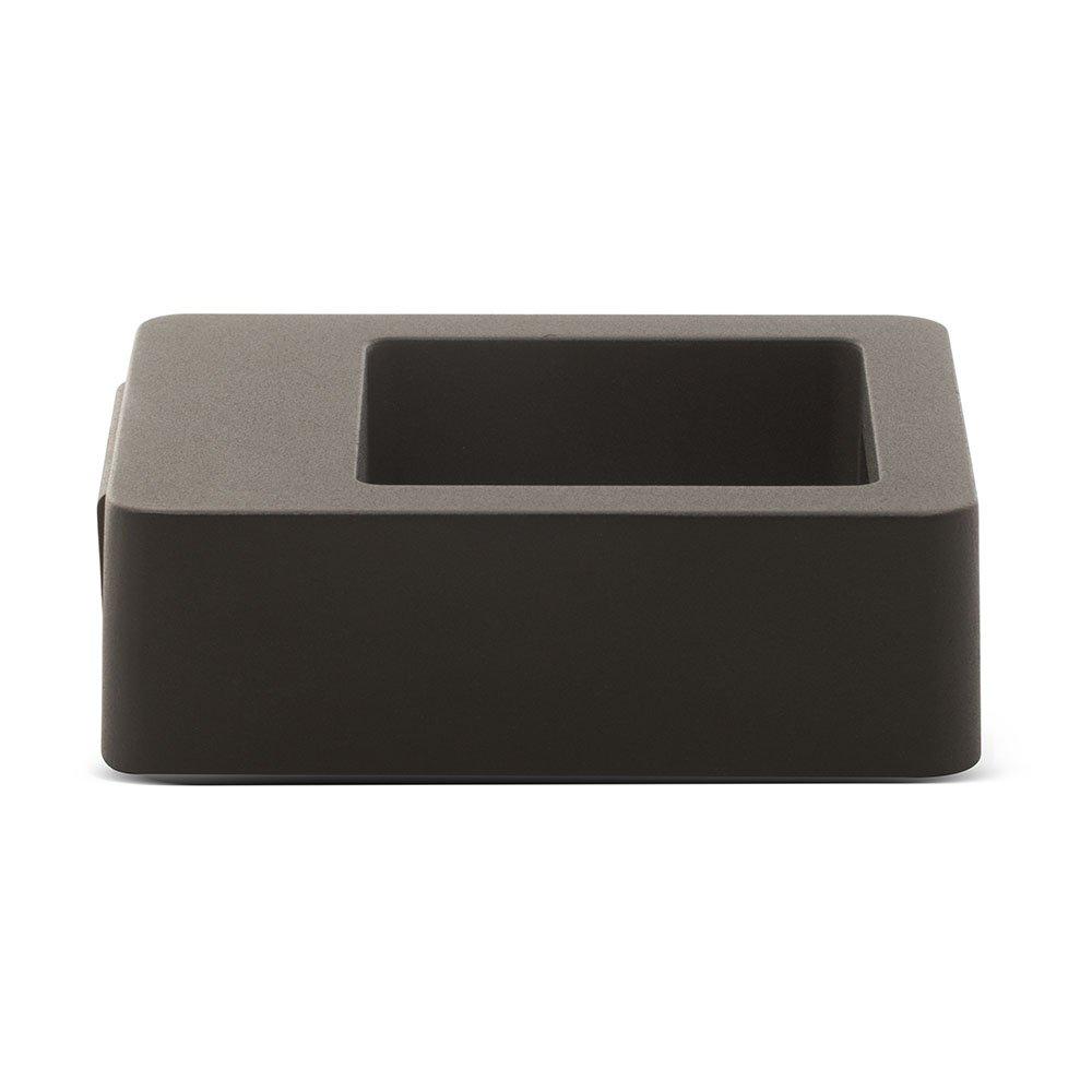 Luceco Eco Exterior Decorative Cube LED Wall Light Grey Slate 13 x 8 cm 10 Watts Up and Down Illumination