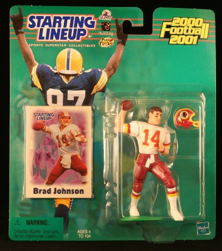 BRAD JOHNSON / WASHINGTON REDSKINS 2000-2001 NFL Starting Lineup Action Figure & Exclusive NFL Collector Trading Card