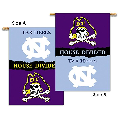 North Carolina Tarheels UNC House Divided Rivalry Flag (House Divided Unc)