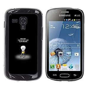 CASEX Cases / Samsung Galaxy S Duos S7562 / This Is Not For Your Brains # / Delgado Negro Plástico caso cubierta Shell Armor Funda Case Cover Slim Armor Defender