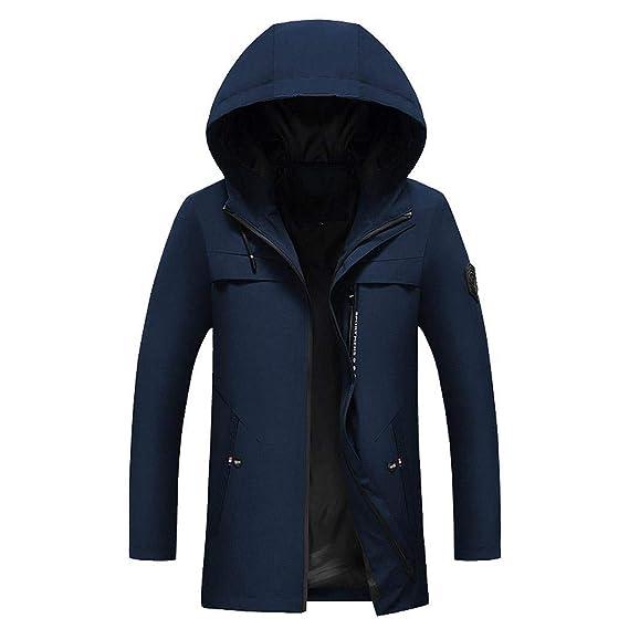 giacca lunga uomo con cappuccio