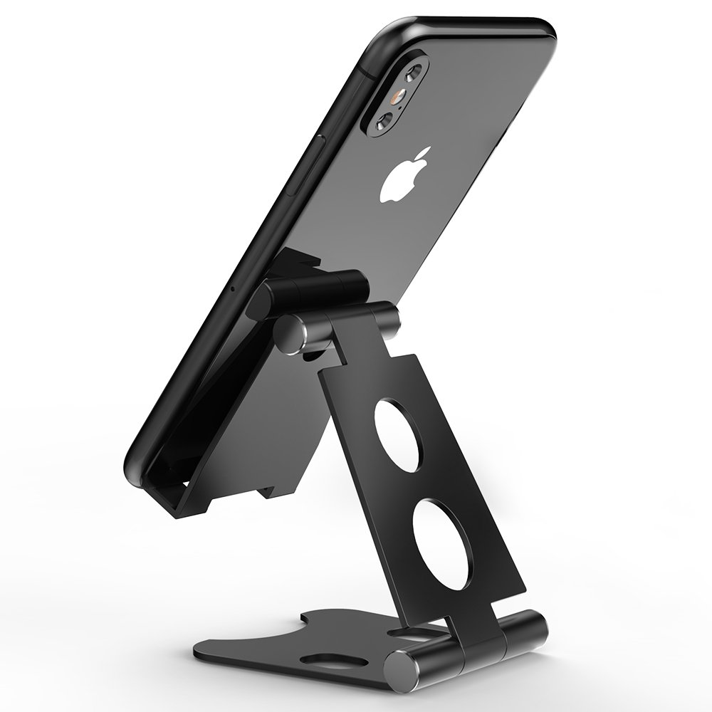 Cell Phone Stand,Aonlink iPhone stand,Tablet Stand Holders,Stand For Switch,Nintendo Switch Stand,all Android Smartphone, iPad Mini Stands and Holders for Desk-Black
