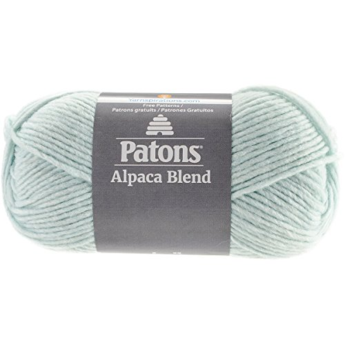 Patons  Alpaca Blend Yarn - (5) Bulky Gauge  - 3.5oz -  Iceberg -  Machine Washable  For Crochet, Knitting & -