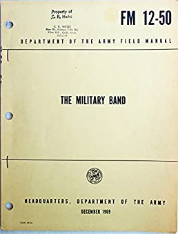 the military band field manual fm 12 50 army field manual fm 12 rh amazon com army field manual 3-0 army field manual pdf