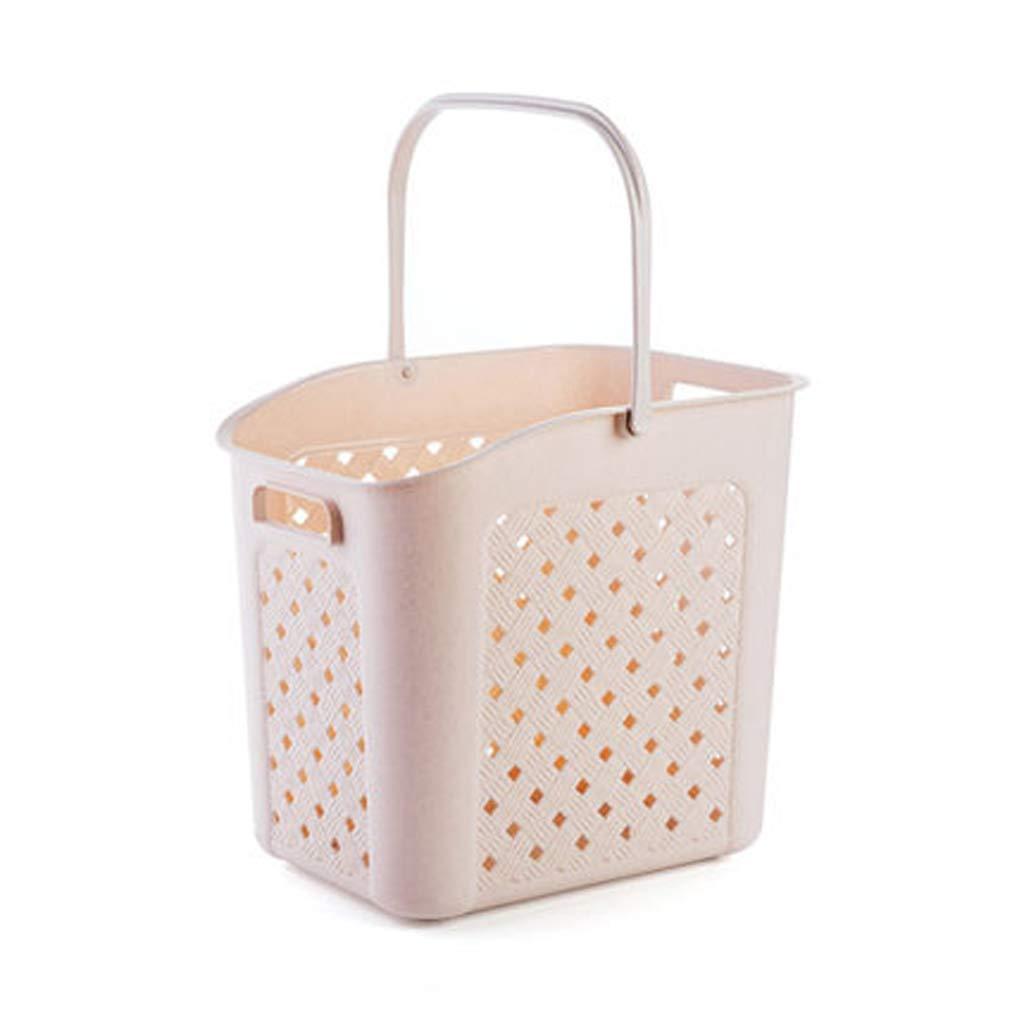 LTS 携帯用プラスチックこし器洗濯かごのおもちゃ収納かご収納かご収納かご 収納バスケット (Color : Beige) B07PYTRZBT Beige