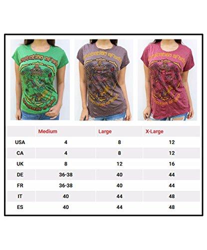 Tees shirt Casual Mujer Omtimistic Ganesh T Yoga Graphic dwfA1Wqdx