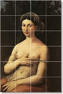 Raphael desnudos matalan Tile Mural 14. 48 x 182,88 cm con (24) 12 x 12 azulejos de cerámica.