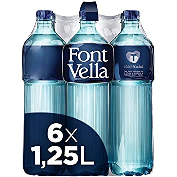 Font Vella Agua Mineral Natural Solidaria - Pack de 6 x 1.25 L: Amazon.es: Amazon Pantry