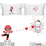 i am awesome cup - BOLDLOFT Captured By Your Love Couples Pillowcases- Funny Couples Gifts, Valentines Day Gifts for Boyfriend, Spiderman Gifts for Men, Gifts for Couples, His and Hers Gifts, Superhero Gifts for Men