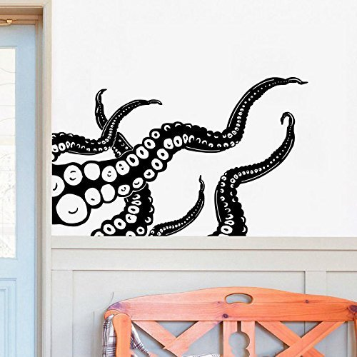 Cheap  Octopus Wall Decal Kraken Tentacles Vinyl Wall Decal Nautical Bedroom Bathroom Decor..