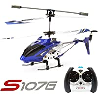 Syma S107G 3CH RC Radio Mini Alloy Remote Control Helicopter with Gyro Genuine Blue
