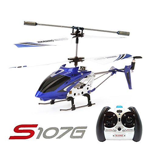 3 Channel Indoor Helicopter (Syma S107G 3 Channel RC Radio Mini Alloy Remote Control Helicopter with Gyro for Kids and Beginners)
