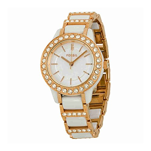 Fossil-Womens-CE1041-Jesse-White-Ceramic-Rose-Gold-Tone-Watch