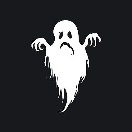 Mattelsen Decoración de Vacaciones Halloween 3D Wall Stickers Fantasma Fondo de Pantalla Negro, Interior DIY