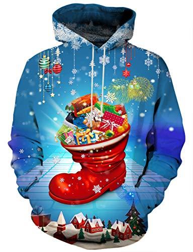 - Yasswete Unisex Red Xmas Sweatshirts Hooded Hoodies Jackets XXL