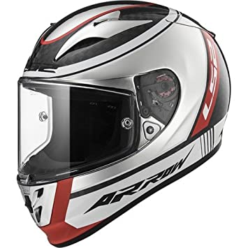 LS2 Casco Moto FF323 Arrow c Evo Indy, blanco/negro/rojo, ...