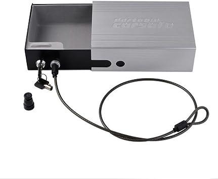 NUZAMAS Caja de almacenamiento de caja fuerte portátil Caja de seguridad Caja de seguridad de caja fuerte individual con cable 2 teclas para el hogar Acampar Viajar al aire libre cubierta: Amazon.es: