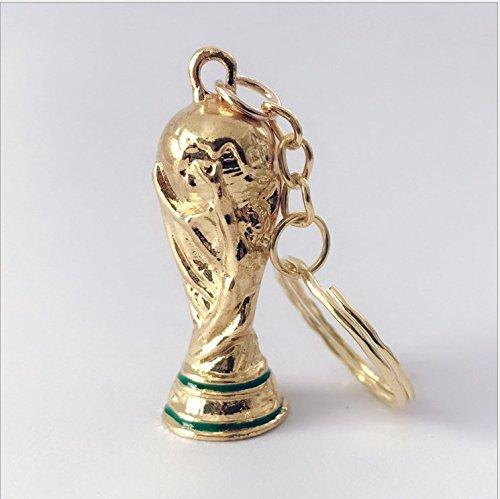 Aszune 2018 Russia World Cup Keychain Trophy Keyring Souvenir for Soccer Fans