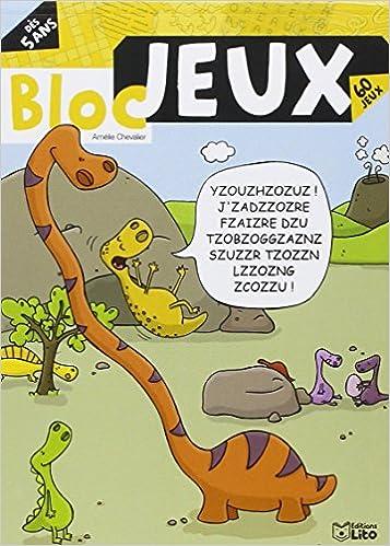 Livres Bloc jeux dinosaures - Dès 5 ans epub pdf