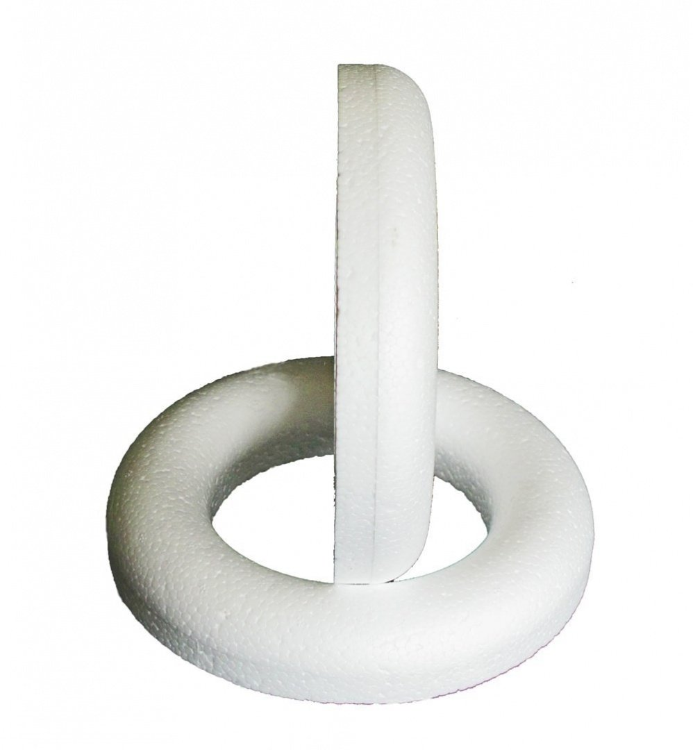 Craftmill Half Rounded Polystyrene Ring / Wreath 17cm (170mm) - Box of (1)