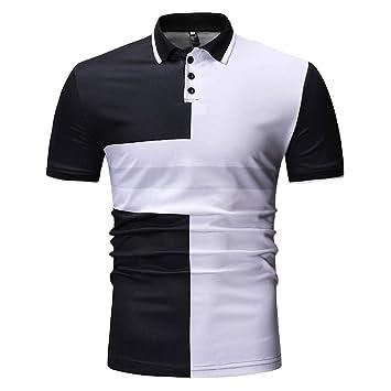 Amazon.com: Xlala camisas para hombre de manga corta casual ...