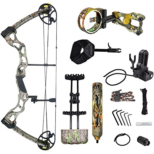 Tree Limb Quiver (iGlow 40-70 lbs Tree Camouflage Camo Archery Hunting Compound Bow with Elite Kit 175 150 60 55 30 lb Crossbow)