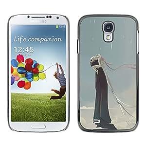 """For Samsung Galaxy S4 Case , Lluvia Monstruo Muerte Azul Nubes cráneo"""" - Diseño Patrón Teléfono Caso Cubierta Case Bumper Duro Protección Case Cover Funda"""