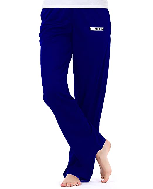 037d09dec641 cenfor Women s Sweatpant with Pockets Open Bottom Athletic Pants Reflective  Sweatpants Loose Causal Pants for Jogging