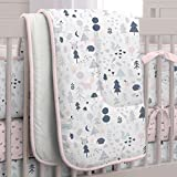 Carousel Designs Pink and Navy Baby Woodland Crib Comforter