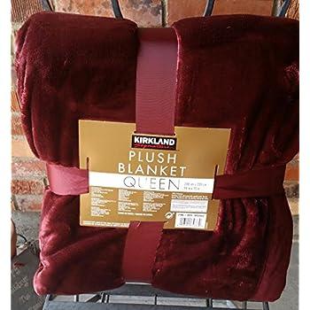 kirkland plush brown queen blanket 98 by 92 inches huge super soft home kitchen. Black Bedroom Furniture Sets. Home Design Ideas