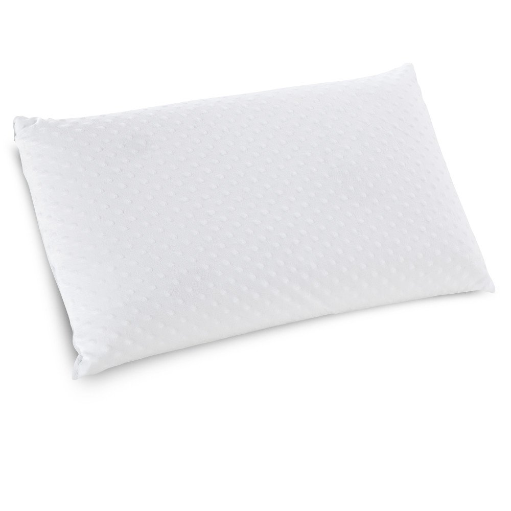 Classic Brands Caress Ventilated Plush Latex Foam Pillow with Velour Cover, Queen