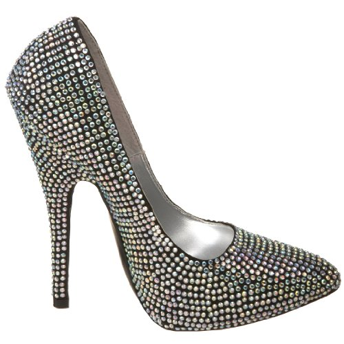 Rhinestone Women's by Pleaser Iridescent Pump Bordello Scandal 620R w0EOE